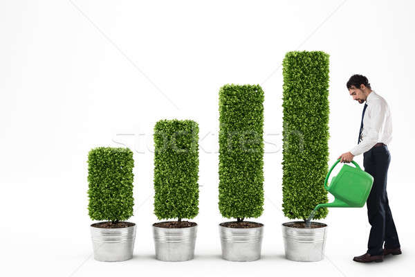 Growing the economy. 3D Rendering Stock photo © alphaspirit