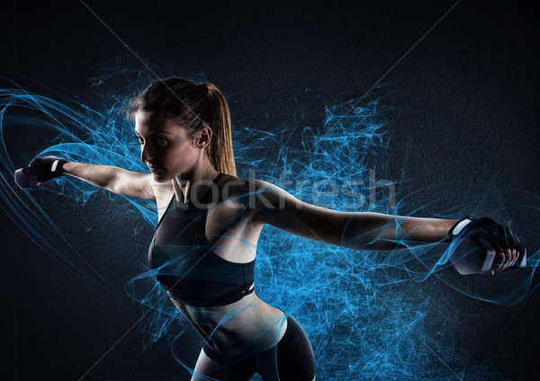 Shiny power workout Stock photo © alphaspirit