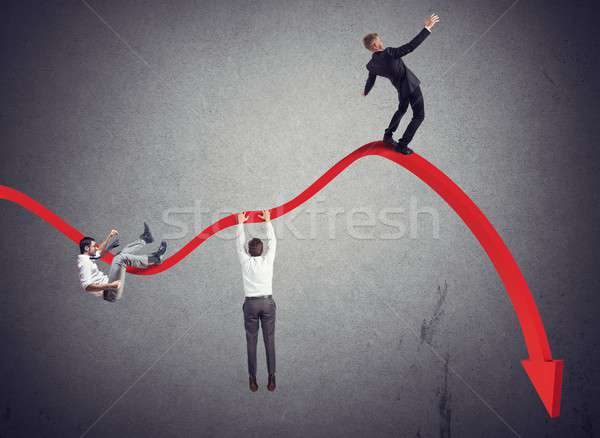 Businessmen falling down Stock photo © alphaspirit