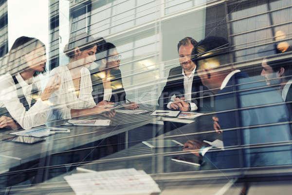 Imprenditori lavoro insieme ufficio lavoro di squadra Foto d'archivio © alphaspirit