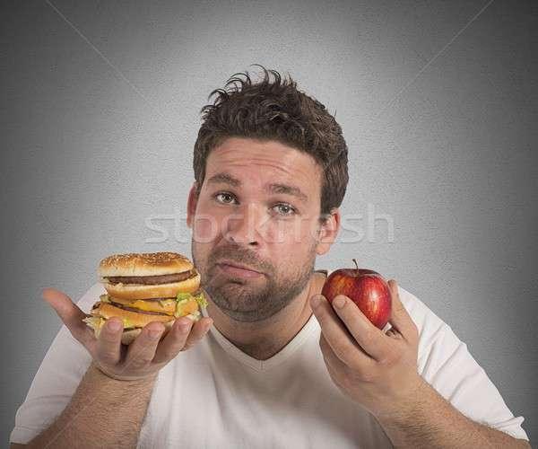 Diety vs człowiek żywności Zdjęcia stock © alphaspirit