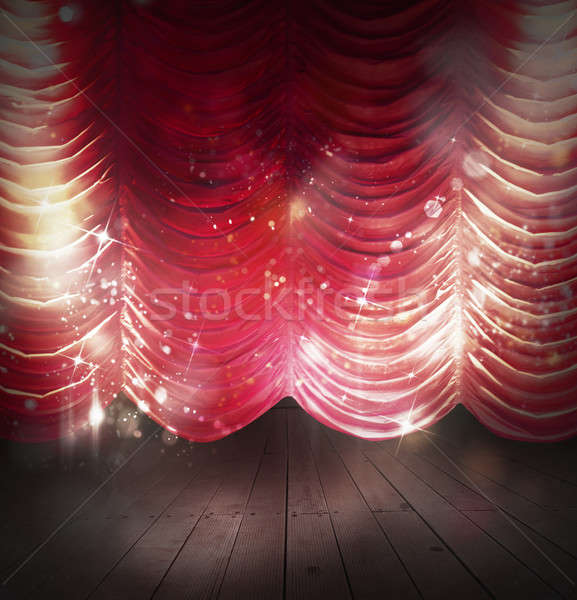 Red curtains theater Stock photo © alphaspirit