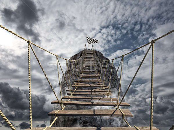 Reach the success with difficult. Achievement business goal and Difficult career concept Stock photo © alphaspirit