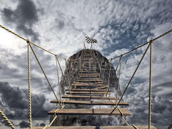 достичь успех трудный достижение бизнеса цель Сток-фото © alphaspirit