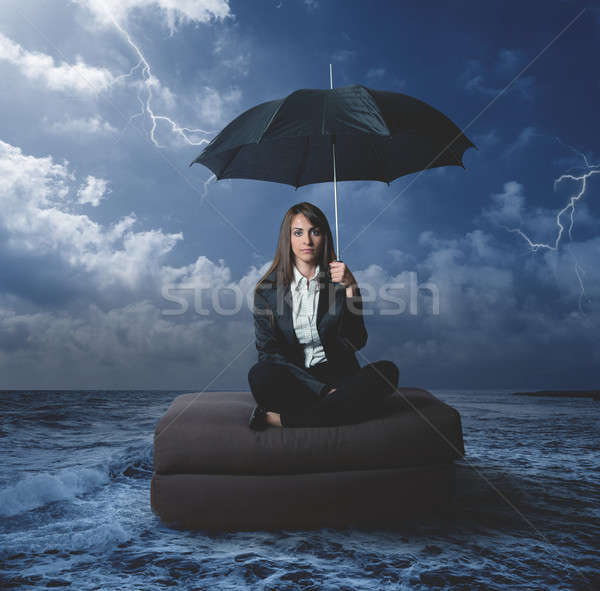Businesswoman with work problems Stock photo © alphaspirit