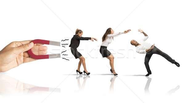 Capturing people with marketing Stock photo © alphaspirit