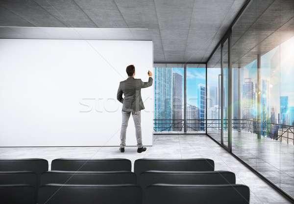Tárgyalóterem konferencia sikeres üzletember ír férfi Stock fotó © alphaspirit