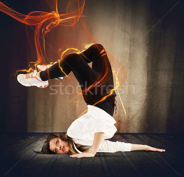 Fuoco agile ragazza effetto donna Foto d'archivio © alphaspirit