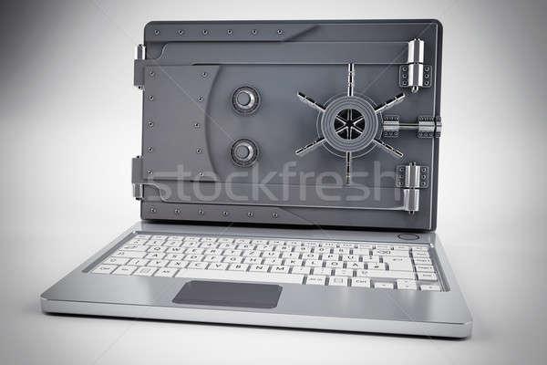 安全 銀行 3D ノートパソコン 画面 ビジネス ストックフォト © alphaspirit