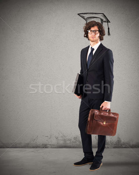 Man graduate ready to work Stock photo © alphaspirit