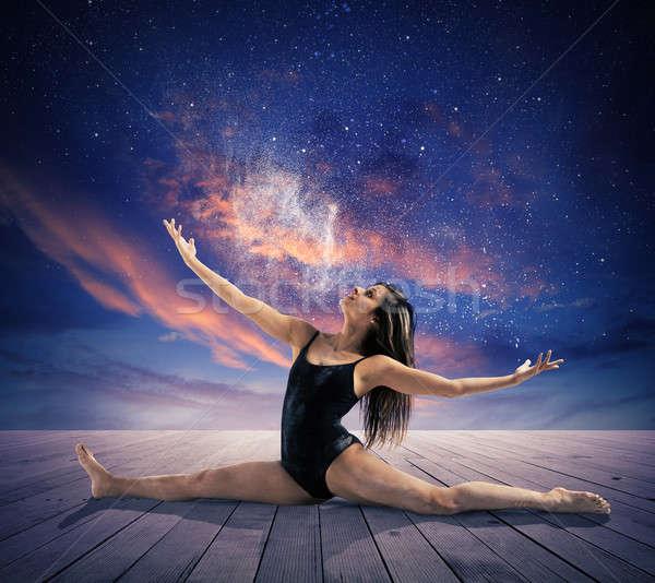Dancing under the stars Stock photo © alphaspirit