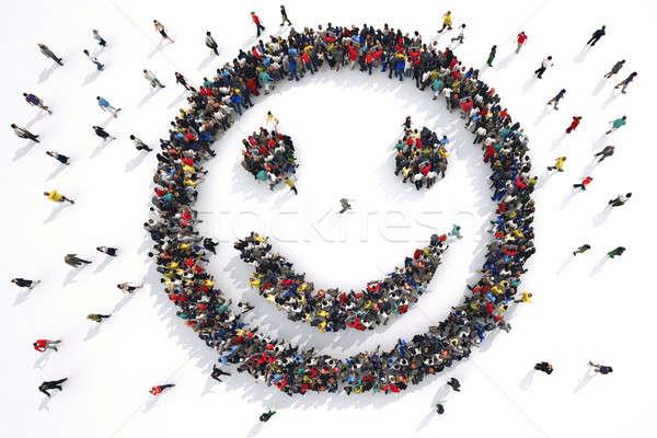 3D Rendering people smile Stock photo © alphaspirit