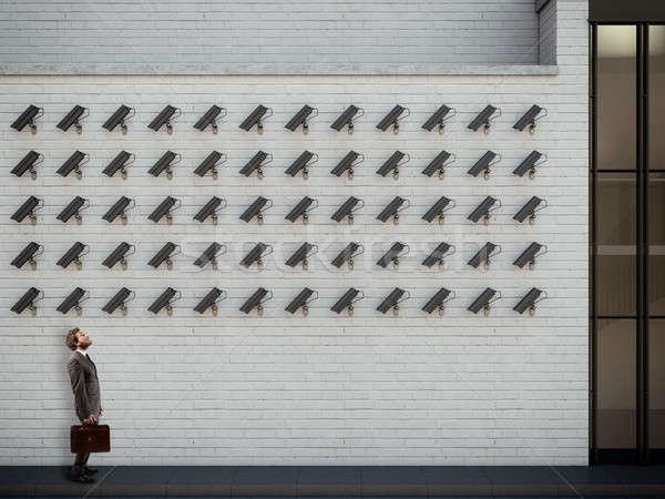 Under surveillance. 3D Rendering Stock photo © alphaspirit