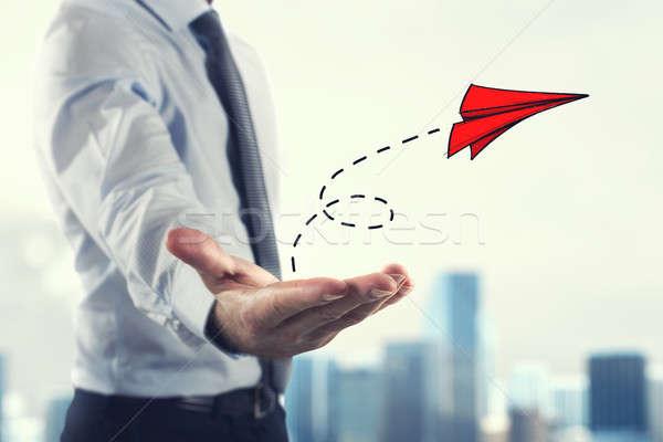 Startup pracy przedsiębiorstwo biznesmen mały Zdjęcia stock © alphaspirit