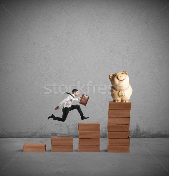Run for earn more money Stock photo © alphaspirit