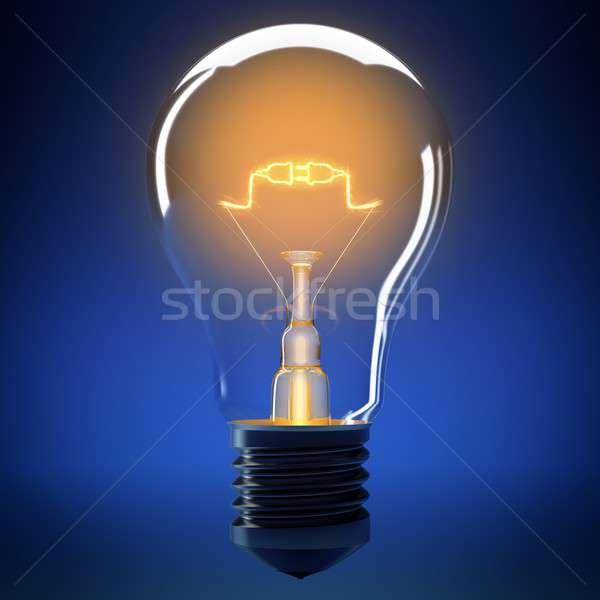 Bulbo luz conexão pequeno lâmpada energia Foto stock © alphaspirit