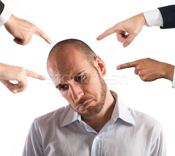 бизнесмен печально человека работу менеджера судья Сток-фото © alphaspirit