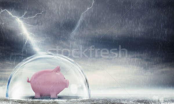 Crise dentro esfera tempestade Foto stock © alphaspirit
