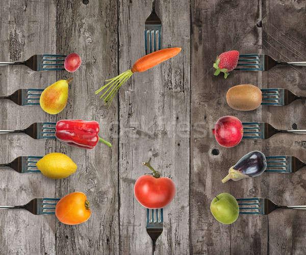 Legumes frutas alimentação saudável bem-estar fruto Foto stock © alphaspirit
