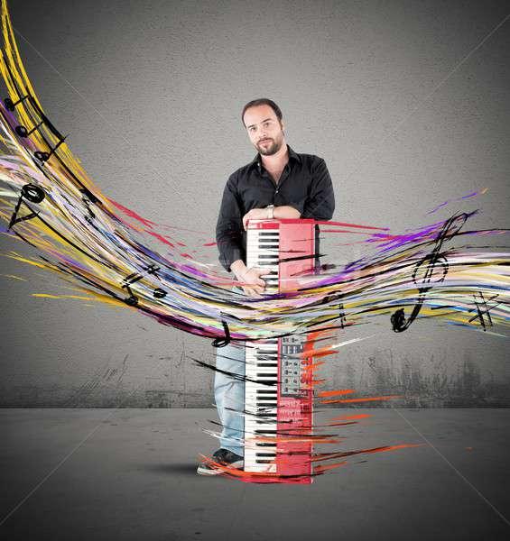 Colourful piano Stock photo © alphaspirit