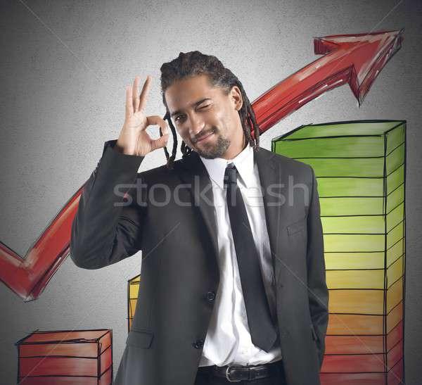 Financieros empresario satisfecho feliz negocios Foto stock © alphaspirit