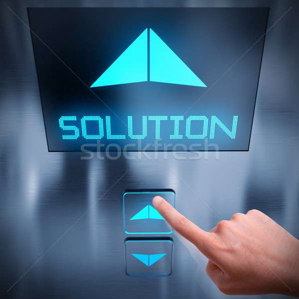 Solution business elevator Stock photo © alphaspirit