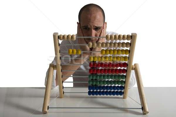 Ausfall Geschäftsmann Büro Arbeitnehmer Job Stress Stock foto © alphaspirit