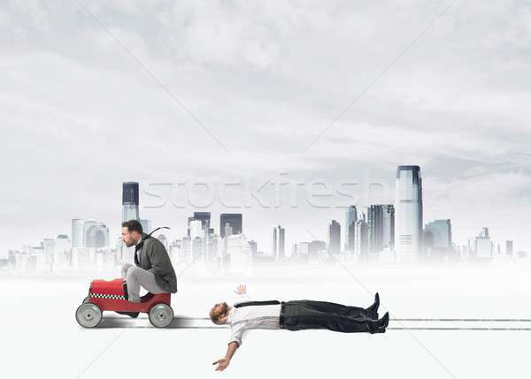 Ruthless businessman Stock photo © alphaspirit