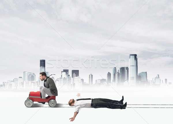 Zakenman business man stad snelweg stedelijke Stockfoto © alphaspirit