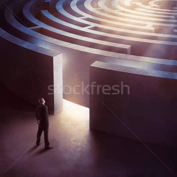 Entrance complicated maze Stock photo © alphaspirit