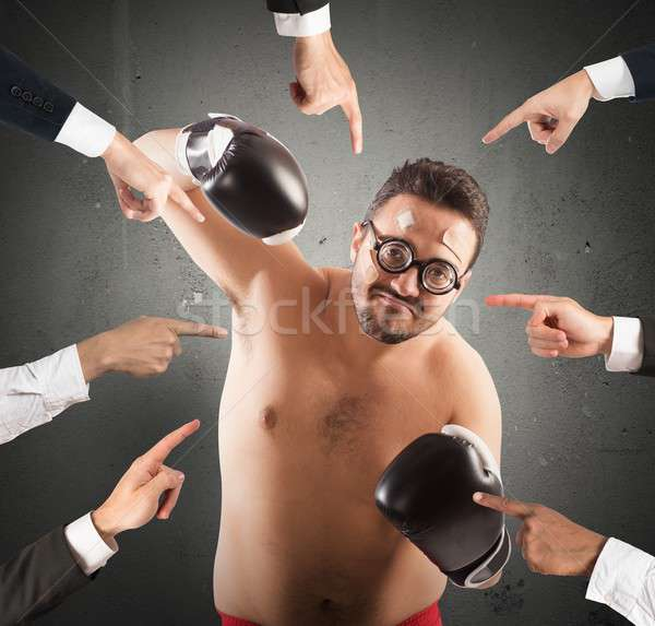 All against a person Stock photo © alphaspirit