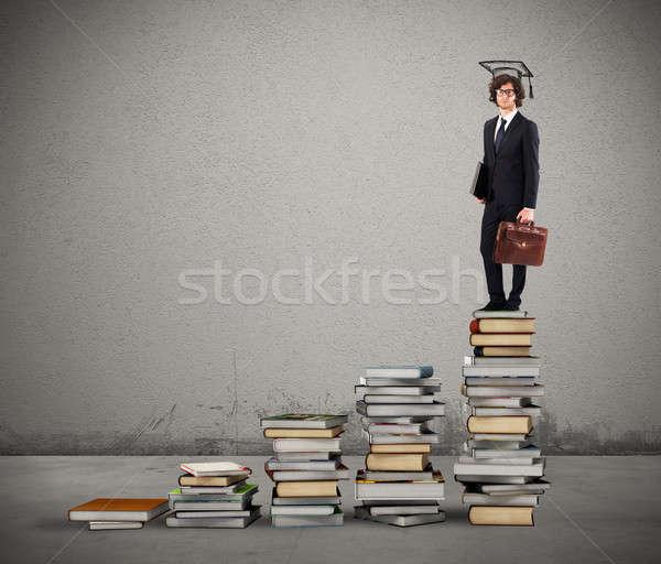Сток-фото: пути · масштаба · книгах · человека · окончания · Hat