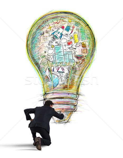 Paint business idea Stock photo © alphaspirit
