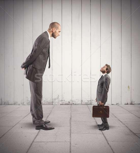 Affaires concurrence grand faible affaires homme Photo stock © alphaspirit