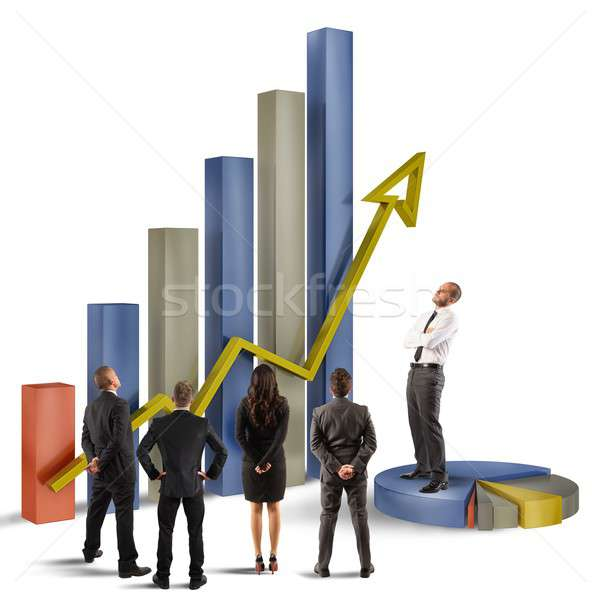 Terv menedzser cég alkalmazottak üzlet pénzügy Stock fotó © alphaspirit