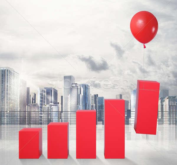 лет экономический успех статистика Flying Сток-фото © alphaspirit
