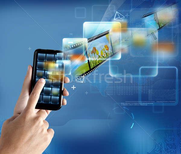 Modernen Technologie Smartphone neue Computer Telefon Stock foto © alphaspirit