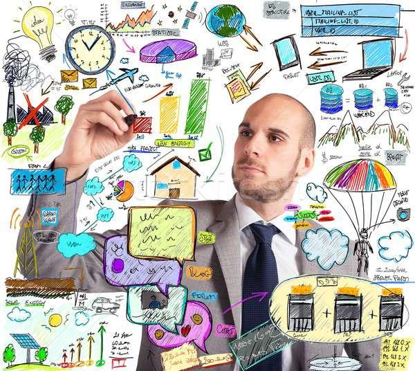 экологический улучшение плана бизнесмен дизайна изобретательный Сток-фото © alphaspirit