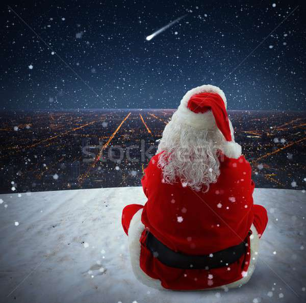 Christmas falling star Stock photo © alphaspirit