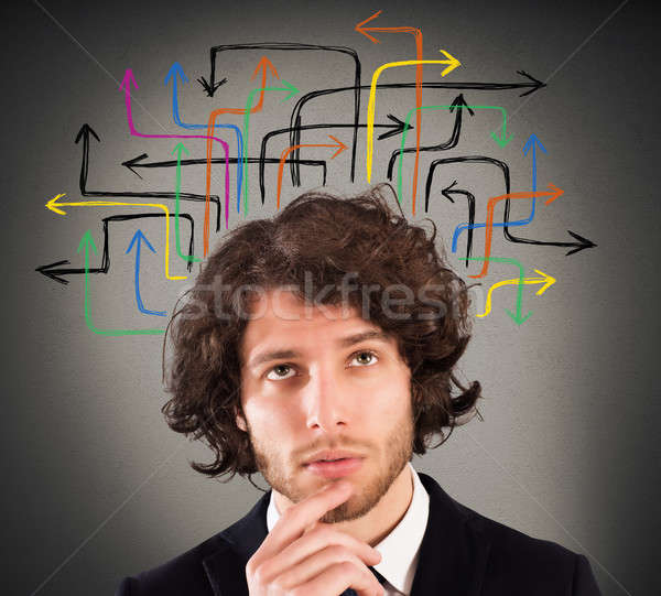 Analyzing various possibilities and solutions Stock photo © alphaspirit