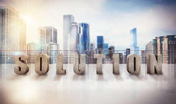 Business solution view 3D Rendering Stock photo © alphaspirit