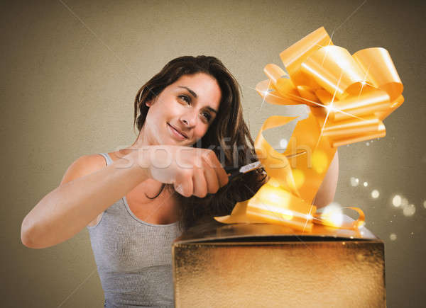 Prepare xmas gifts Stock photo © alphaspirit