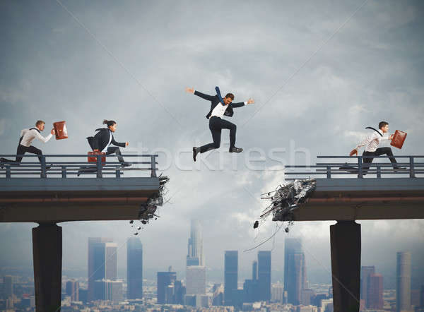 Overcome obstacles in career Stock photo © alphaspirit