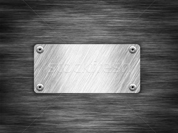 Metalen zwarte metaal textuur achtergrond industriële Stockfoto © alphaspirit