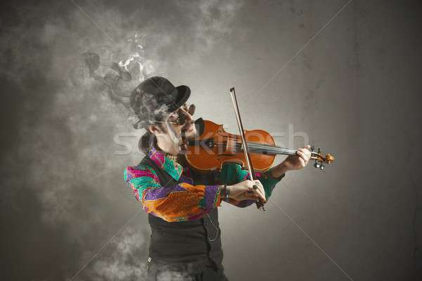 Violinist Stock photo © alphaspirit