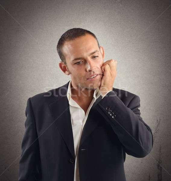 Empresario tensión cara hombre triste Foto stock © alphaspirit