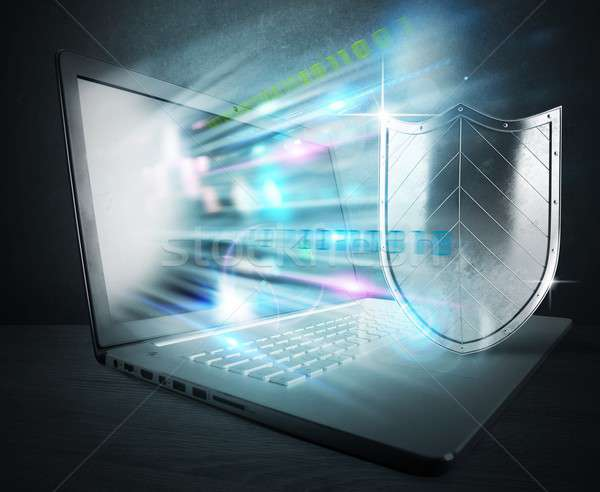Firewall antivírus computador escudo tecnologia rede Foto stock © alphaspirit