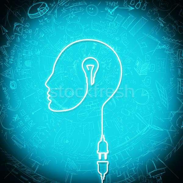 Związku pomysł drutu elektryczne wtyczkę kontakt Zdjęcia stock © alphaspirit
