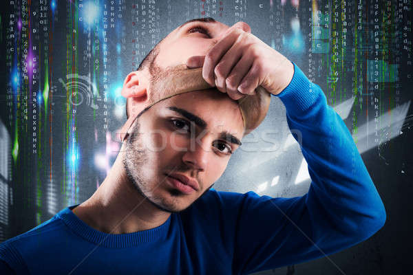 Teenager hacker Stock photo © alphaspirit