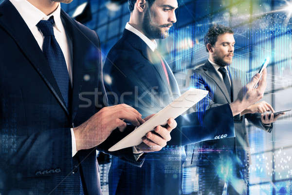 Technology and business Stock photo © alphaspirit